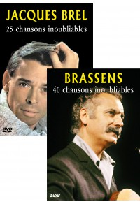 Pack DVD : Jacques Brel - Georges Brassens